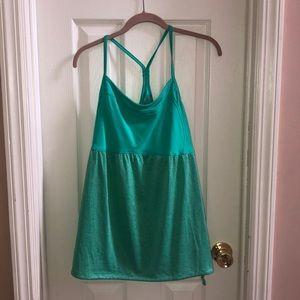 Green workout tank top